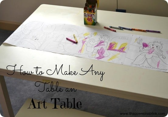 Kids Art Table With Paper Roll Knockoffdecor Com