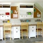Wall Hutches for a Kids' Work Area