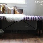 Kilim Upholstered Thrift Store Bench