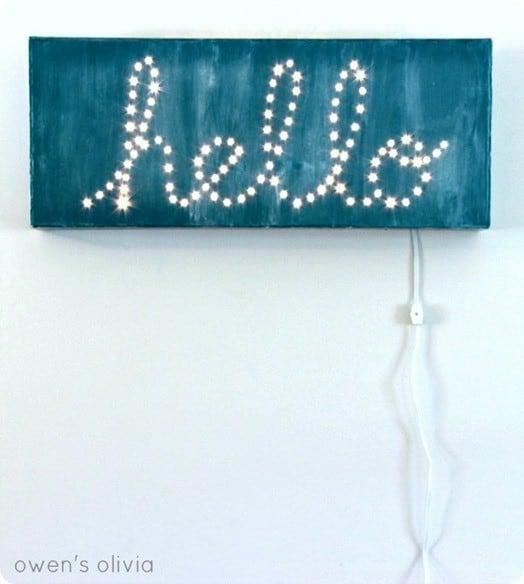 Illuminated Hello Sign Knockoffdecor Com