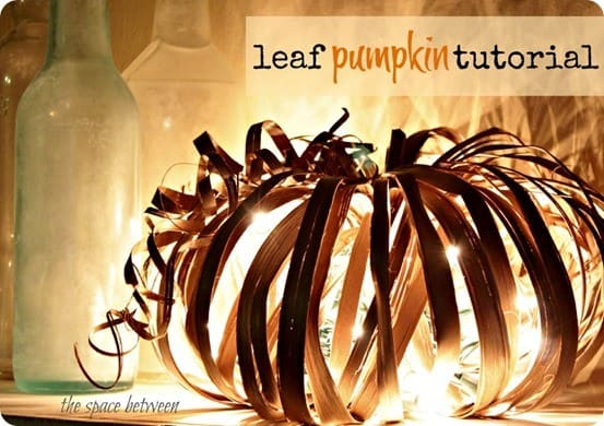 Palm Leaf Pumpkin With Lights Knockoffdecor Com