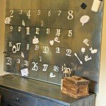 Huge Galvanized Steel Magnetic Calendar