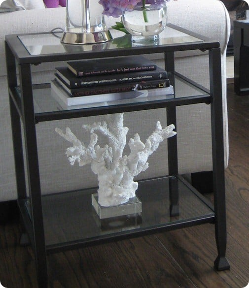 Metal And Glass Side Table Knockoffdecor Com