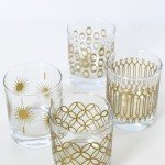 DIY Metallic Print Glassware