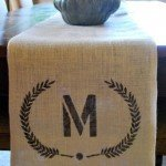 Monogrammed Burlap Table Runner