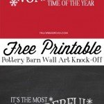 It's the Most Wonderful Time of the Year Sign {Free Christmas Printable}