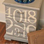 Number Art Nightstand