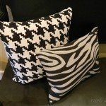No-Sew Zebra Pillow from Placemats
