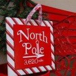North Pole Christmas Sign