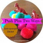 Pom Pom and Dinosaur Push Pins