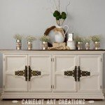 Paint and Stain Vintage Buffet Makeover