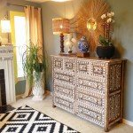 DIY Painted Faux Bone Inlay Dresser