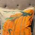 Hand Painted Pumpkin Pillow