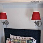 Spray Painted Sconces and Lamp Shades