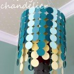 Paper Chandelier for a Baby Nursery
