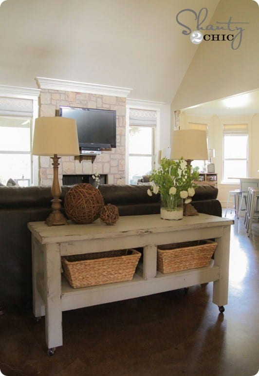 Create Storage Space With A Console Table Knockoffdecor Com