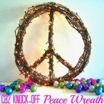 Peace Grapevine Wreath with Lights