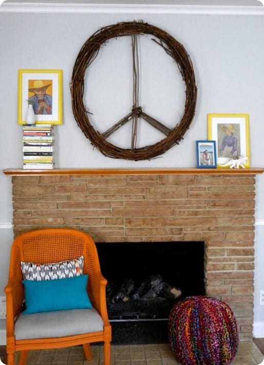 Oversized Peace Wreath From Sticks Knockoffdecor Com