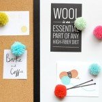 Colorful Pom-Pom Magnets and Pushpins