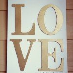 "Easy ""LOVE"" Canvas for a Valentine's Vignette"