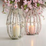 Beaded Easter Candle Holders