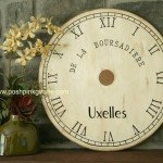 Painted Clock Face from Table