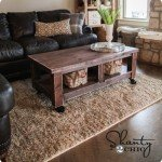 Chunky Wood Coffee Table with Casters