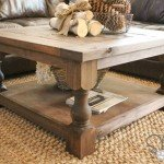 Square Coffee Table with Turned Legs