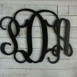 Custom Wood Wall Monograms for Less