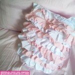 Ruffled Stripe Pillow Cover