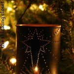 Punched Tin Can Ornament with Light