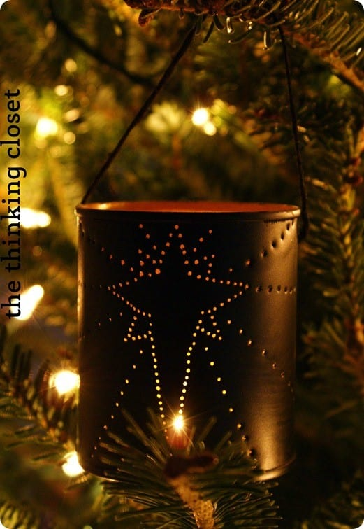 Punched Tin Can Ornament With Light Knockoffdecor Com