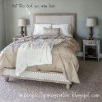 Upholstered Platform Bed with Nailhead Trim