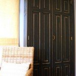 Distressed Black Armoire