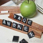 Repurposed Scrabble Game to Place Cards
