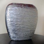 Textured Metallic Vase