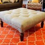 Wood Coffee Table to Tufted Ottoman