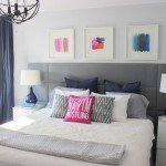 Focal Wall with Upholstered Panel Headboard
