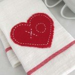 No-Sew Heart Applique Towel for Under $1
