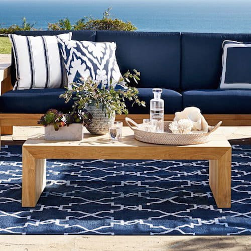 Designer Inspired Modern Outdoor Bench