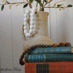 Decorative Wood Bead Vase Filler