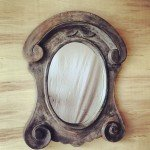 Painted Scroll Mirror Makeover