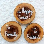 Wood Slice Coasters with Sayings