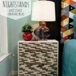 DIY Wood-Tiled Nightstands