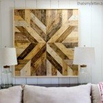 Planked Wood Quilt Square Wall Art