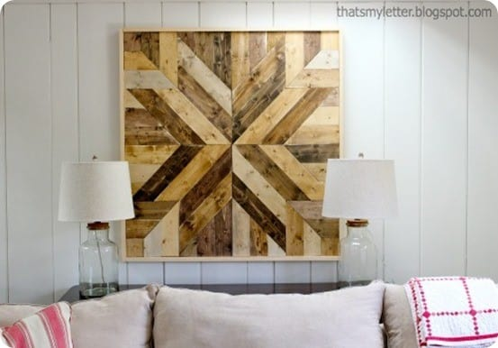 Planked Wood Quilt Square Wall Art Knockoffdecor Com