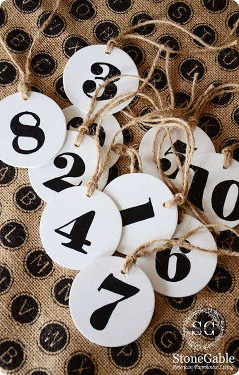 Wooden Number Tags Easy As 1 2 3 Knockoffdecor Com