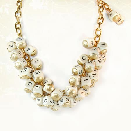 DIY Alphabet Necklace