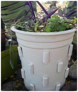 Crate & Barrel Inspired Flower Pot - The Easy Way