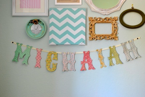 Make Your Own Land Of Nod Inspired Name Banner